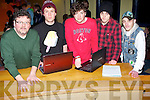 RAPPERS: John Buggy of KDYS music who introuced the Rappers on Stage in The KDYS on Good Friday night, L-r: John Buggy, Ill Sklyes, Zach Buggy,Nathan Murphy and Ruari Fry (minder).