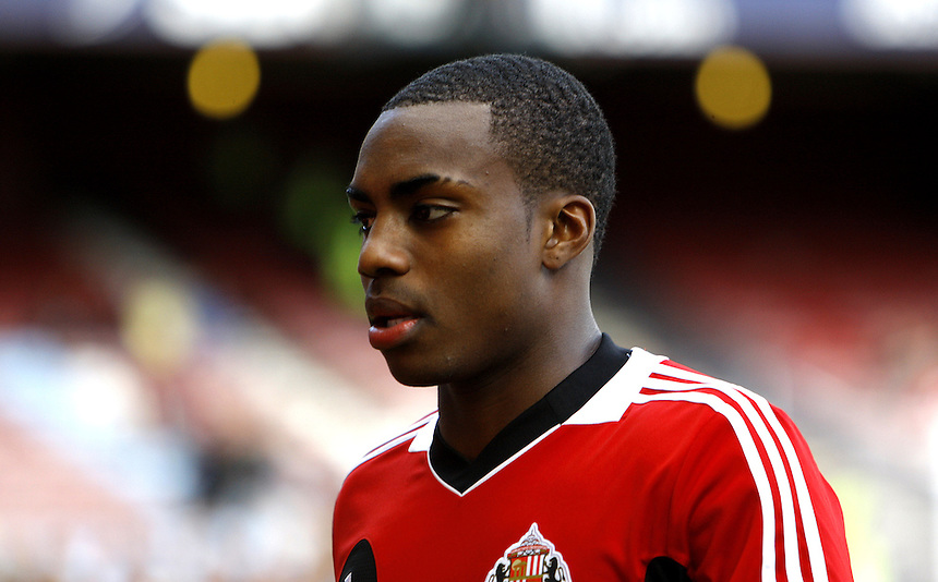 Sunderland's Danny Rose..Football - Barclays Premiership - West Ham United v Sunderland - Saturday 22nd September 2012 - Boleyn Ground - London..