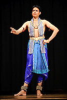 Kiran Rajagopalan dancing at Mahatma Gandhi Cultural Center in St. Louis, MO on May 1, 2009.