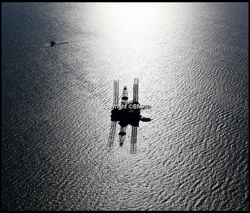 BNPS.co.uk (01202 558833)<br /> Pic: BNPS<br /> <br /> The rig is drilling within sight of the UNESCO World heritage 'Jurassic Coast'.<br /> <br /> Hold your horses - Alarmed conservationists are calling on the government to stop an oil rig drilling operation off the south coast because of the affect it could have on a precious seahorse colony.<br /> <br /> The 100m high platform is currently drilling an appraisal well for oil deep under Poole Bay, Dorset, which forms part of Britain's UNESCO World Heritage Jurassic Coast.<br /> <br /> Shallow areas of the bay are a well known breeding ground for both the native breeds of seahorses which are a heavily protected species.<br /> <br /> But at this time of year the mystical creatures over-winter in deeper waters close to where the ENSCO 72 rig is positioned.