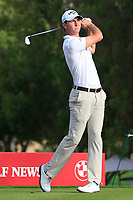 Jovan Rebula (AM)(RSA) on the 4th tee during Round 1 of the Omega Dubai Desert Classic, Emirates Golf Club, Dubai,  United Arab Emirates. 24/01/2019<br /> Picture: Golffile | Thos Caffrey<br /> <br /> <br /> All photo usage must carry mandatory copyright credit (&copy; Golffile | Thos Caffrey)