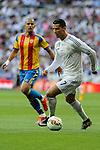 Real Madrid´s Cristiano Ronaldo and Valencia's Sofiane Feghouli during 2014-15 La Liga match between Real Madrid and Valencia at Santiago Bernabeu stadium in Madrid, Spain. May 09, 2015. (ALTERPHOTOS/Luis Fernandez)