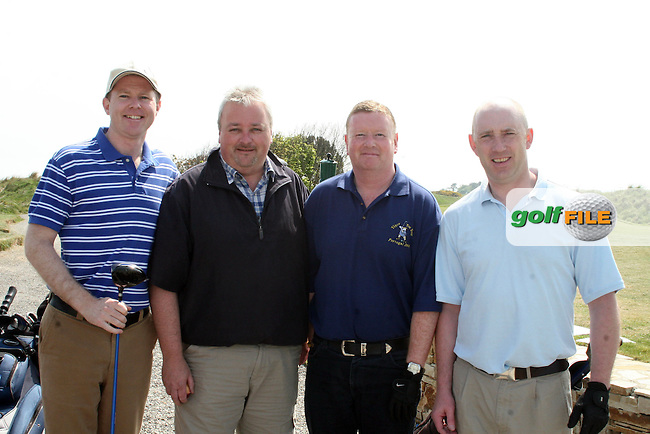Gerry Kierans, Paddy Shanaghan, Kevin McDonnell and Dermot McCartney at the Abacas Golf Classic in Seapoint Golf Club, Termonfeckin...Photo NEWSFILE/Jenny Matthews.(Photo credit should read Jenny Matthews/NEWSFILE)....This Picture has been sent you under the condtions enclosed by:.Newsfile Ltd..The Studio,.Millmount Abbey,.Drogheda,.Co Meath..Ireland..Tel: +353(0)41-9871240.Fax: +353(0)41-9871260.GSM: +353(0)86-2500958.email: pictures@newsfile.ie.www.newsfile.ie.FTP: 193.120.102.198.
