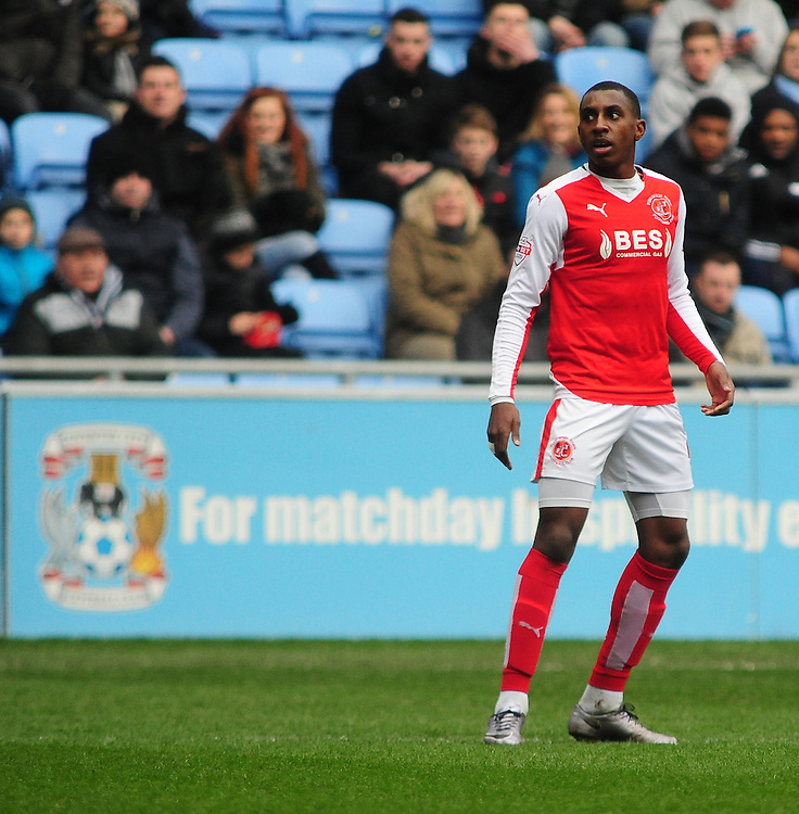 Fleetwood Town's Amari'i Bell<br /> <br /> Photographer Andrew Vaughan/CameraSport<br /> <br /> Football - The Football League Sky Bet League One - Coventry City v Fleetwood Town - Saturday 27th February 2016 - Ricoh Stadium - Coventry   <br /> <br /> &copy; CameraSport - 43 Linden Ave. Countesthorpe. Leicester. England. LE8 5PG - Tel: +44 (0) 116 277 4147 - admin@camerasport.com - www.camerasport.com
