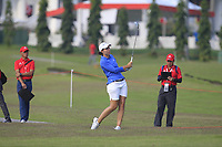 Carlota Ciganda (ESP) in action on the 10th during Round 3 of the HSBC Womens Champions 2018 at Sentosa Golf Club on the Saturday 3rd March 2018.<br /> Picture:  Thos Caffrey / www.golffile.ie<br /> <br /> All photo usage must carry mandatory copyright credit (&copy; Golffile   Thos Caffrey)