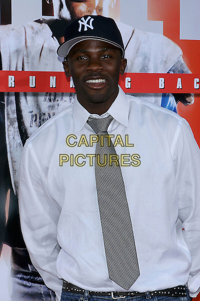 "DEREK LUKE.World Premiere of ""The Longest Yard"" held at Grauman's Chinese Theatre..May 19th, 2005.Photo Credit: Jacqui Wong/AdMedia.half length white shirt tie baseball cap hat.www.capitalpictures.com.sales@capitalpictures.com.© Capital Pictures."