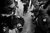 San Francisco, California.USA.March 20, 2003..Thousands of anti-Iraqi war protesters take to the streets to oppose the US war on Iraq that began the previous evening. 1,000 protesters were arrested in San Francisco on this day.