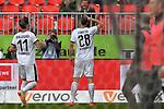 16.03.2019, BWT-Stadion am Hardtwald, Sandhausen, GER, 2. FBL, SV Sandhausen vs FC St. Pauli, <br /> <br /> DFL REGULATIONS PROHIBIT ANY USE OF PHOTOGRAPHS AS IMAGE SEQUENCES AND/OR QUASI-VIDEO.<br /> <br /> im Bild: Philipp F&ouml;rster / Foerster / Forster (SV Sandhausen #28) jubelt ueber sein Tor zum 4:0<br /> <br /> Foto &copy; nordphoto / Fabisch