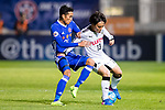 Koji Miyoshi (r) of Kawasaki Frontale (JPN) battles for the ball with Tsang Kam To of Eastern SC (HKG) during the AFC Champions League 2017 Group G match between Eastern SC (HKG) and Kawasaki Frontale (JPN) at the Mongkok Stadium on 01 March 2017 in Hong Kong, China. Photo by Chris Wong / Power Sport Images