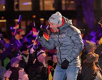 27.02.2018, Olympische Winterspiele 2018, Empfang der erfolgreichen Olympia-Sportlerinnen und Sportler aus dem Allgäu am Marktplatz Oberstdorf. Kombi-Coach Kai Bracht (GER). *** Local Caption *** © pixathlon
