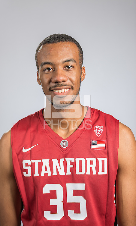STANFORD, CA - June 27, 2016: The 2016-2017 Stanford Men's Basketball portraits