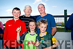 Daragh Breen, Anthony Slattery (Tralee) with Jessie, Michael and Tiernan Lynch (Lispole), pictured at the Kingdom Greyhound Stadium, Tralee, GAA Night of Champions on Friday night last.