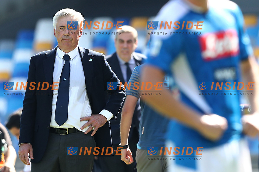 Carlo Ancelotti coach of Napoli looks on<br /> Napoli 29-9-2019 Stadio San Paolo <br /> Football Serie A 2019/2020 <br /> SSC Napoli - Brescia FC<br /> Photo Cesare Purini / Insidefoto