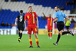 14th August 2013 - Cardiff - UK : Wales v Republic of Ireland - Vauxhall International Friendly at Cardiff City Stadium : Craig Bellamy of Wales pulls a face as his free kick goes fails to score.