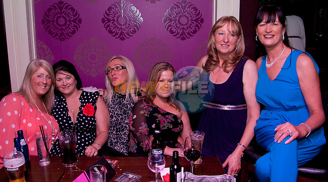 Workmates from Dunnes Stores; Jacqueline Reade, Jenny Russell, Jacqui Skelly, Miriam Moore, Mary Kelly and Patricia Harrison enjoying a night in Barocco..Picture: Shane Maguire / www.newsfile.ie.