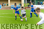 Captain Sean McGrath for Kerry knows there's a man outside him as Donal Porter, Waterford, closes in when the sides met at Mount hawk Park, Tralee in the SSE Airtricity U17 league last Saturday evening.