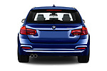 Straight rear view of a 2017 BMW 3 Series Touring 330i xDrive 5 Door Wagon stock images