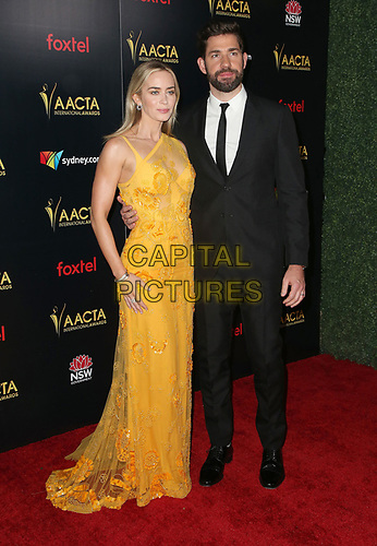 04 January 2019 - West Hollywood California - Emily Blunt and John Krasinski. 8th AACTA International Awards held at Skybar at Mondrian Los Angeles.         <br /> CAP/ADM/FS<br /> ©FS/ADM/Capital Pictures