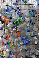 Plastic bottles in trash awaiting recycling (Licence this image exclusively with Getty: http://www.gettyimages.com/detail/83749922 )