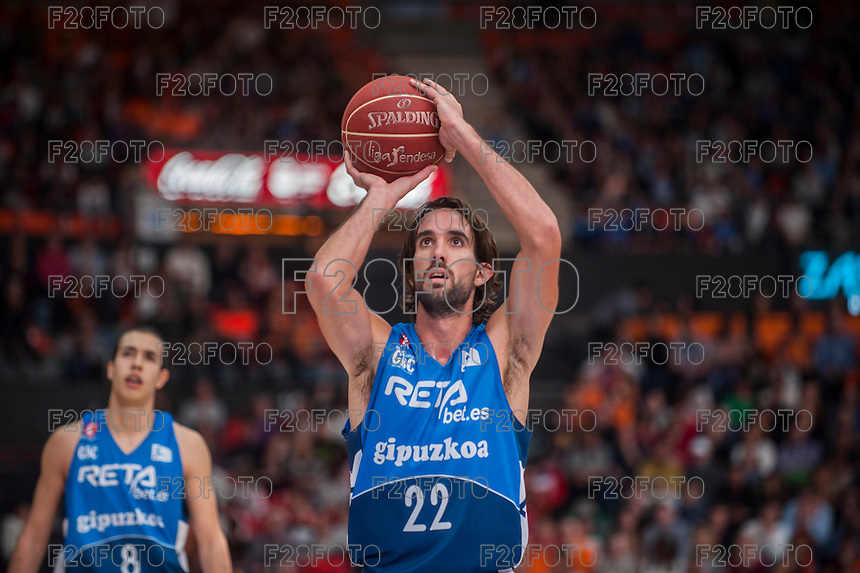 VALENCIA, SPAIN - NOVEMBER 22: Jordi Grimau during Endesa League match between Valencia Basket Club and Retabet.es GBC at Fonteta Stadium on November 22, 2015 in Valencia, Spain