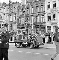 Juni 1969. Opening tunnel.  31 mei 1969. Feestelijke opening van de Kennedytunnel in Antwerpen. Televisieploeg.