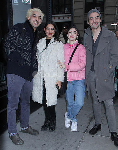 December 14, 2018.  Sam Abbas, Nikohl Boosher, Kimia Zakerin, Harry Aspinwall at Build Series to talk about new movie The Wedding in New York. December 14, 2018  Credit:RW/MediaPunch