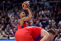 CSKA Moscow Cory Higgins during Turkish Airlines Euroleague match between Real Madrid and CSKA Moscow at Wizink Center in Madrid, Spain. January 06, 2017. (ALTERPHOTOS/BorjaB.Hojas)