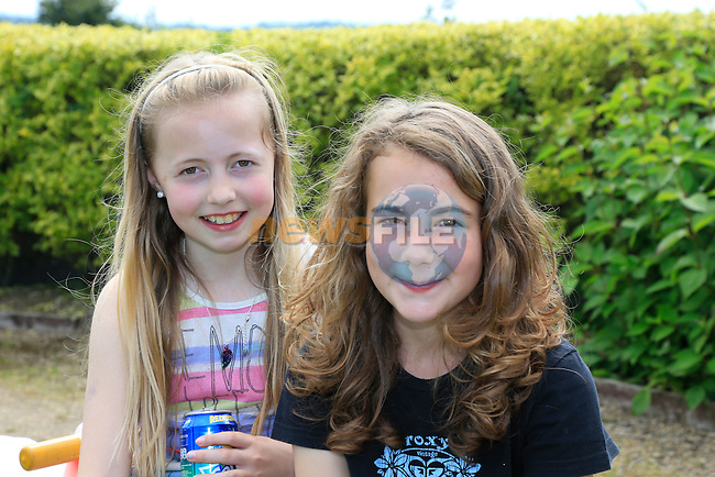 Kerry Keegan and Charlotte Moffett at the Summer party in Julianstown community garden.<br /> Picture:  www.newsfile.ie