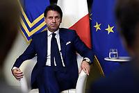 Roma, 8 Agosto 2018<br /> Il Premier Giuseppe Conte incontra la stampa prima della pausa estiva
