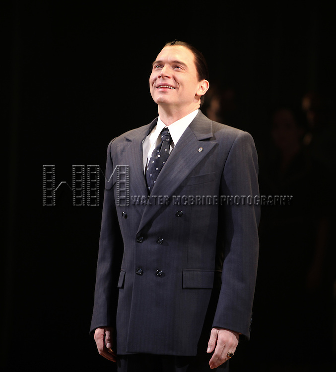 Michael Cerveris.during the Broadway Opening Night Performance Curtain Call for 'EVITA' at the Marquis Theatre in New York City on 4/5/2012