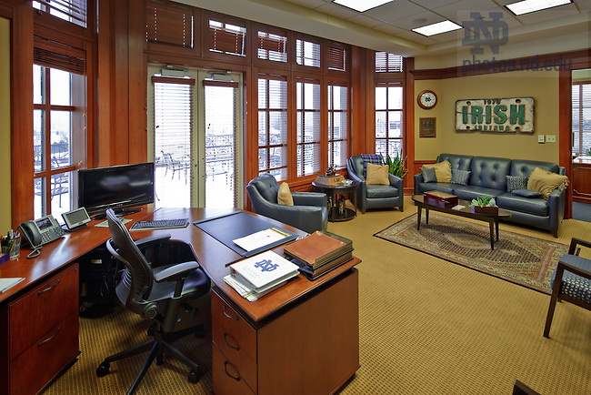 22, 2013; Head Football Coach office..Photo by Matt Cashore - BK Office 2.JPG University Of Notre Dame Photography