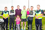 Darragh O'Callaghan,Diarmuid Curnane, Karl Keohane, Jessica Keohane, David Leahy, Moss Maloney, Kyle Maloney,  and Dominic Dunne at the WALK4AUTISM 5km Walk at the John Mitchels complex on Sunday