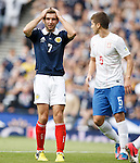 Dejection from James Morrison after a great chance is missed