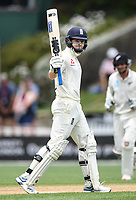 2nd December, Hamilton, New Zealand; England's Ollie Pope celebrates his 50 on day 4 of the 2nd test cricket match between New Zealand and England  at Seddon Park, Hamilton, New Zealand.