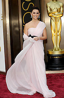 HOLLYWOOD, CA - MARCH 2: Penelope Cruz arriving to the 2014 Oscars at the Hollywood and Highland Center in Hollywood, California. March 2, 2014. Credit: SP1/Starlitepics. /NORTePHOTO