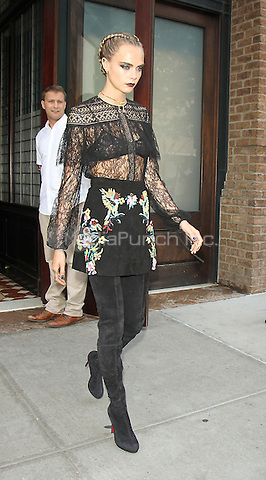 NEW YORK, NY-July 30: Cara Delevingne in town to promote Warner Bros. & DC  Suicide Squad in New York. NY July 30, 2016. Credit:RW/MediaPunch