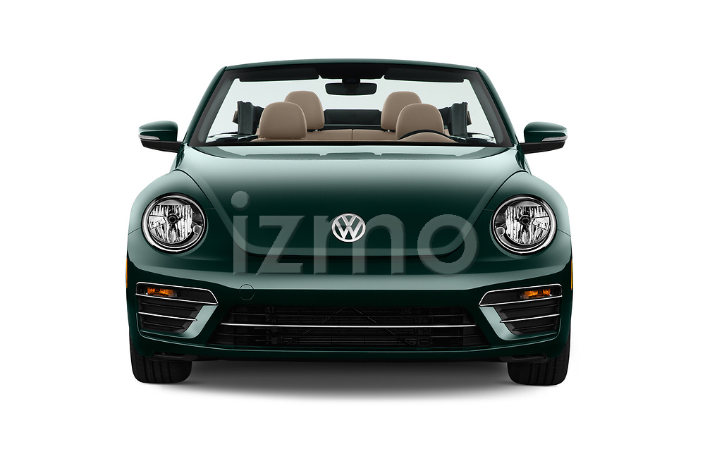 Car photography straight front view of a 2017 Volkswagen Beetle 1.8T-Dune-Conv.-auto 2 Door Convertible Front View
