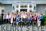 John Herlihy from Oakpark, Tralee celebrating his retirement from the Department Of Social Protection after 45 years service with family and friend at the Ashe Hotel on Thursday
