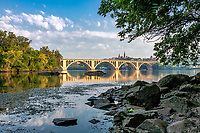 Key Bridge Georgetown from Roosevelt Island Washington DC