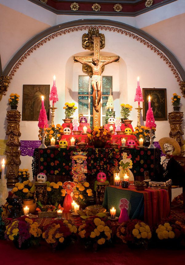 Day of the dead at the San Angel Inn, an old hacienda in the San Angel area of Mexico City, has been a well known restaurant for many years. Mexico September 15, 2008