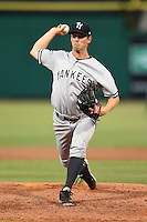 Tampa Yankees pitcher Kyle Haynes (31) delivers a pitch during a game against the Clearwater Threshers on June 26, 2014 at Bright House Field in Clearwater, Florida.  Clearwater defeated Tampa 4-3.  (Mike Janes/Four Seam Images)