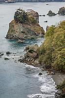 The Pacific Coast at Trinidad California.  Trinidad's sea stacks are part of the California Coastal National Monument.