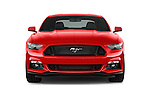 Car photography straight front view of a 2017 Ford Mustang GT Premium 2 Door Coupe