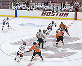 The Eagles of Boston College defeated the Falcons of Bowling Green State University 5-1 on Saturday, October 21, 2006, at Kelley Rink of Conte Forum in Chestnut Hill, Massachusetts.<br />