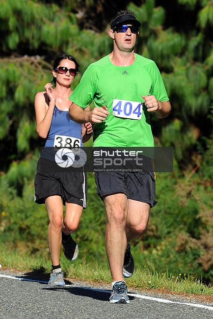 Competitor during the The Kaiteriteri Gold Half Marathon, Kaiteriteri, Riwaka. New Zealand. Saturday 17 March 2012. Photo: Chris Symes/www.shuttersport.co.nz