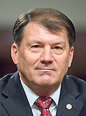 United States Senator Mike Rounds (Republican of South Dakota) appears before the US Senate Armed Services Committee in support of the nomination of former US Representative Heather A. Wilson (Republican of New Mexico) to be Secretary of the Air Force on Capitol Hill in Washington, DC on Thursday, March 30, 2017.<br /> Credit: Ron Sachs / CNP