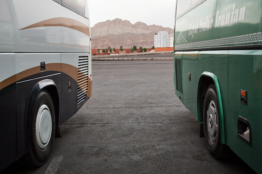 The luxury buses from Isfahan to Tehran.