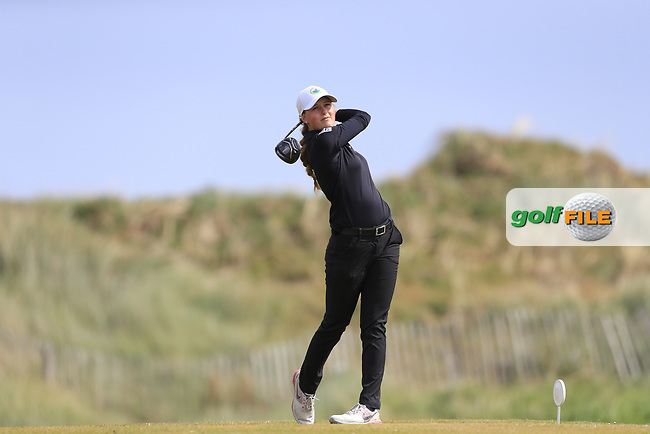 Tara Bettle (GER) on the 14th during the 3rd round of the ​Irish Women's Open Stroke Play Championship, Co Louth Golf Club, Baltray, Co Louth, Ireland. 13/05/2017.<br /> Picture: Golffile | Fran Caffrey<br /> <br /> <br /> All photo usage must carry mandatory copyright credit (&copy; Golffile | Fran Caffrey)