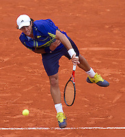 Fernando Verdasco (ESP) (7) against Philipp Kohlschreiber (GER) (30) in the second round of the men's singles. Fernando Verdasco beat Philipp Kohlshreiber 2-6 6-3 6-3 6-7 6-4..Tennis - French Open - Day 7 - Say 30 May 2010 - Roland Garros - Paris - France..© FREY - AMN Images, 1st Floor, Barry House, 20-22 Worple Road, London. SW19 4DH - Tel: +44 (0) 208 947 0117 - contact@advantagemedianet.com - www.photoshelter.com/c/amnimages