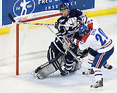 Matt DiGirolamo (UNH - 30), Damon Kipp (UNH - 4), Michael Scheu (Lowell - 20) - The visiting University of New Hampshire Wildcats defeated the University of Massachusetts-Lowell River Hawks 3-0 on Thursday, December 2, 2010, at Tsongas Arena in Lowell, Massachusetts.